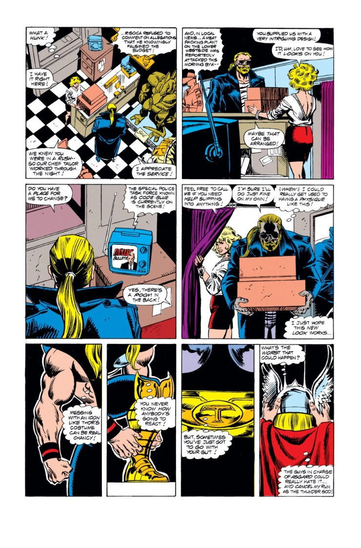 That time Thor went full cosplayer and designed and made a costume back in 1991