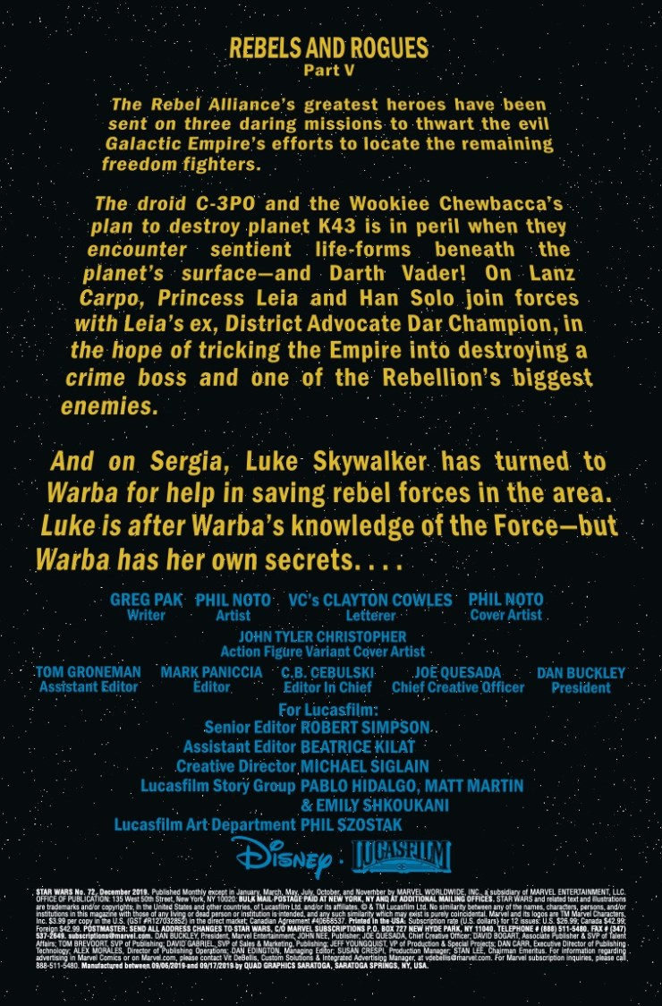 Marvel Preview: Star Wars #72