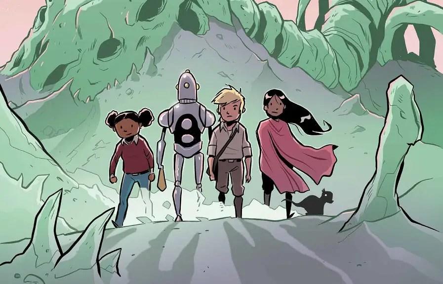 Chris Wyatt's new graphic novel 'Alien Bones' brings sci-fi to kids with dinosaur space adventure