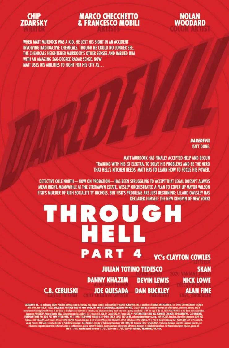 Marvel Preview: Daredevil #14