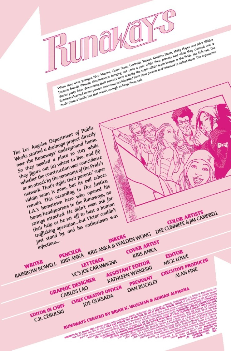 Marvel Preview: Runaways #27