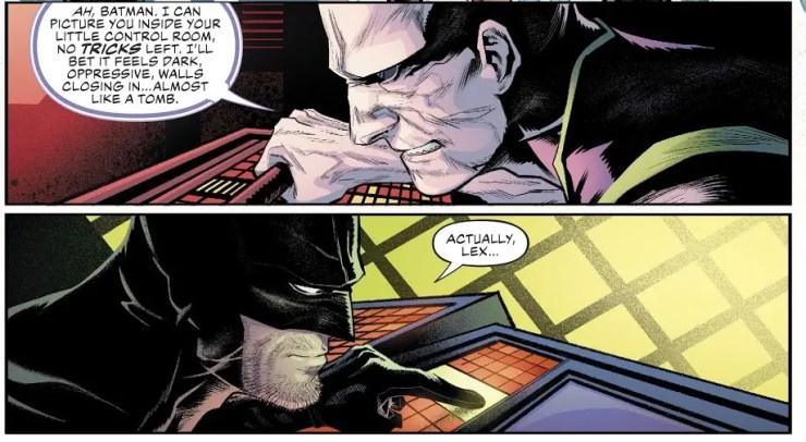 Batman unveils a unique vehicle in Justice League #36
