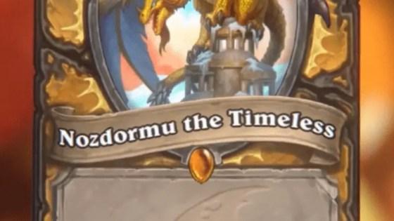 Hearthstone: Descent of Dragons: Nozdormu the Timeless, new Paladin Legendary minion revealed