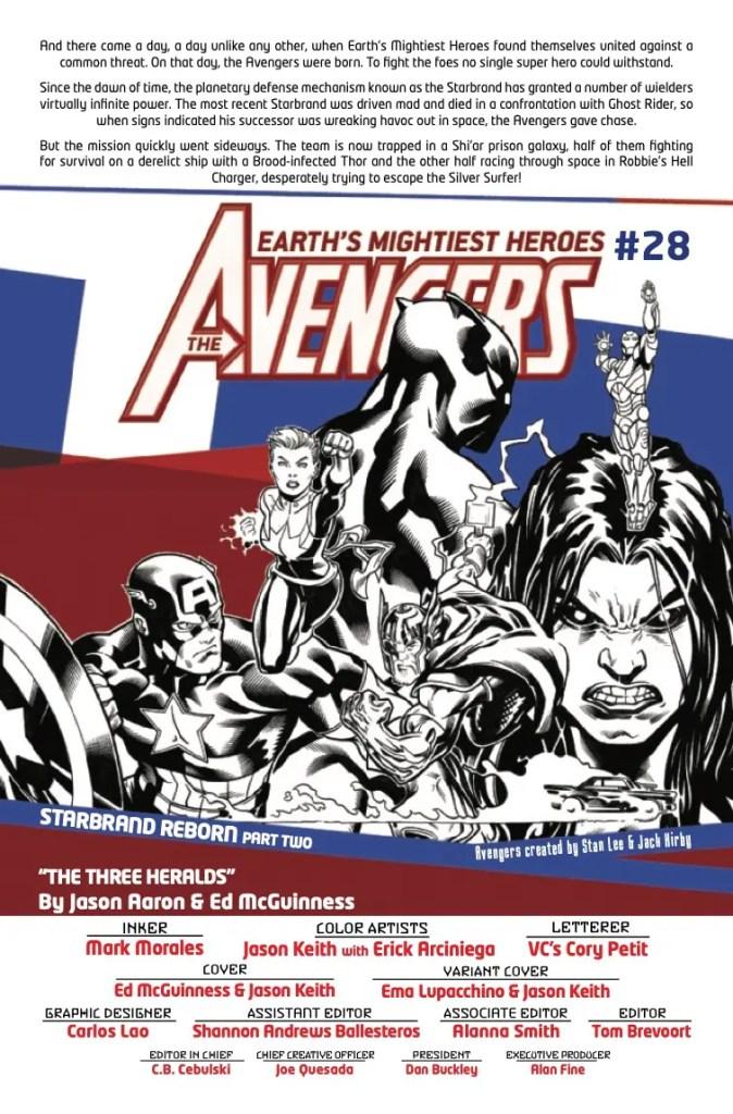 Marvel Preview: Avengers #28