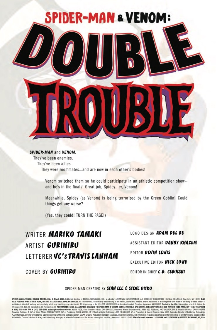 Marvel Preview: Spider-Man & Venom: Double Trouble #3