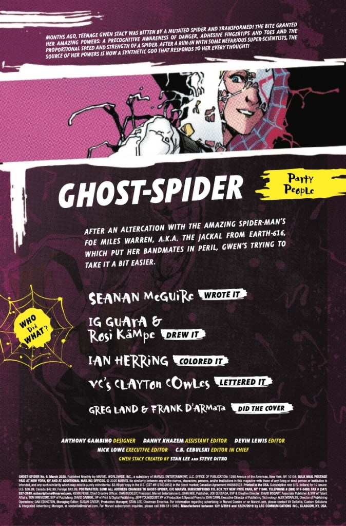 Marvel Preview: Ghost-Spider #6