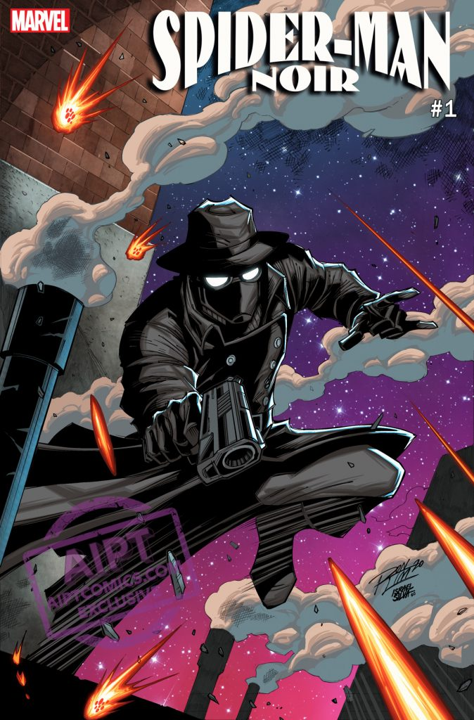Marvel First Look: Spider-Man Noir #1 variant by Ron Lim and Israel Silva