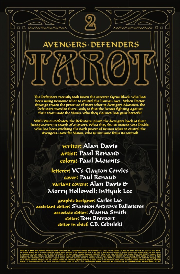 Marvel Preview: Tarot #2
