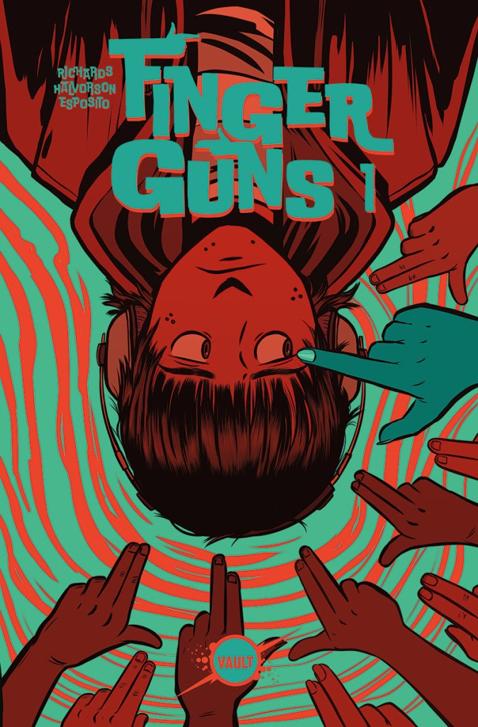 Cock your finger for Jen Hickman's newly revealed 'Finger Guns' #1 wrap around cover
