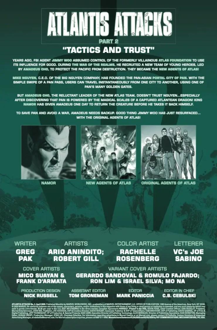 Marvel Preview: Atlantis Attacks #2