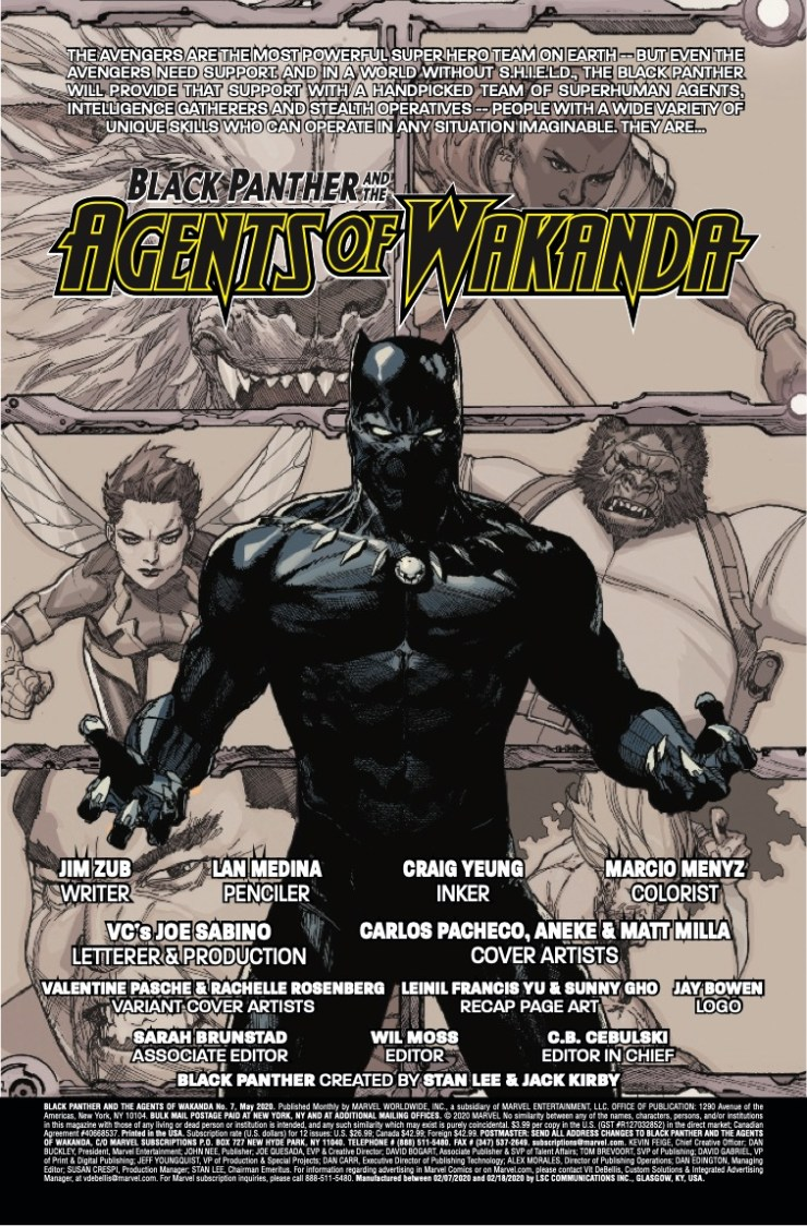 Marvel Preview: Black Panther and the Agents of Wakanda #7