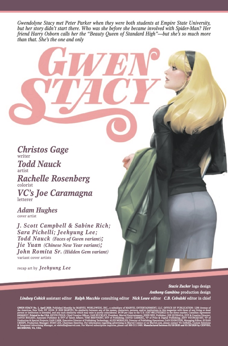 Gwen Stacy #1 Review