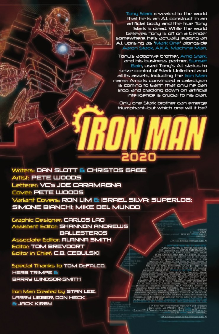 Marvel Preview: Iron Man 2020 #2