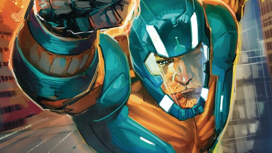 EXCLUSIVE Valiant First Look: X-O Manowar #2 double-page splash by Emilio Laiso
