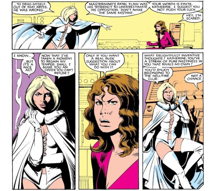 Looking back from between the panels: Kate Pryde on Emma Frost