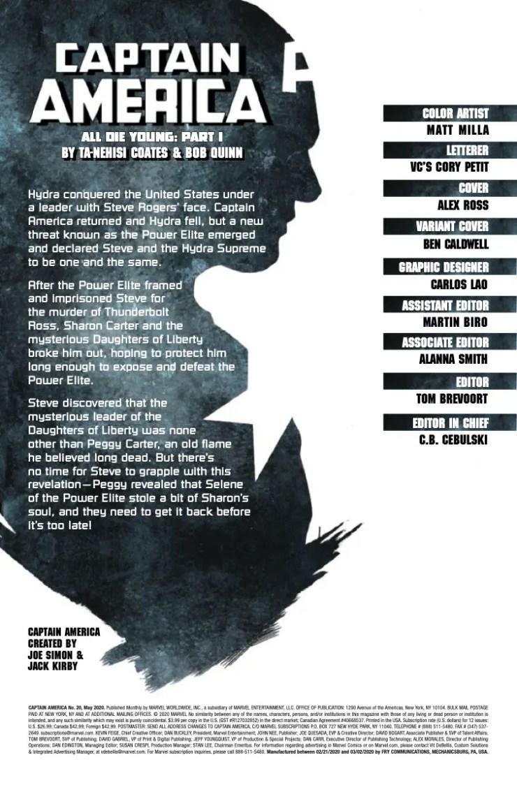 Marvel Preview: Captain America #20