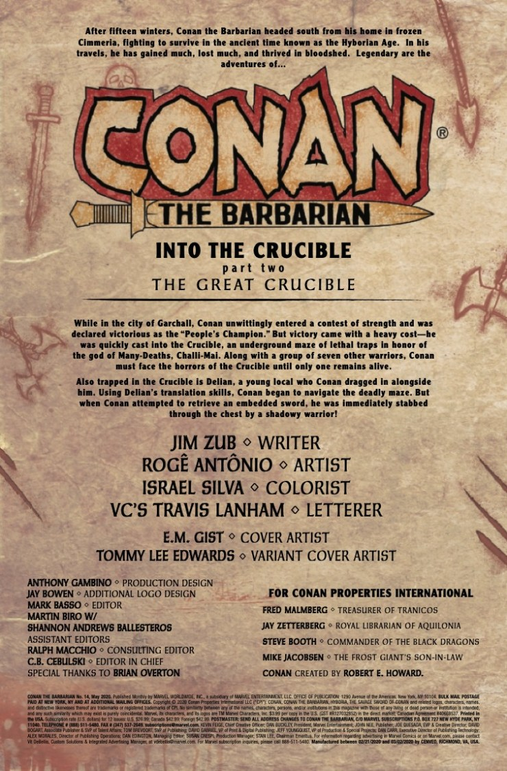 Marvel Preview: Conan the Barbarian #14