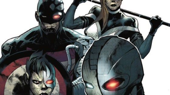 War Machine, U.S.Agent, Mockingbird and Quake have joined forces to fight against the robots for human survival as Force Works!