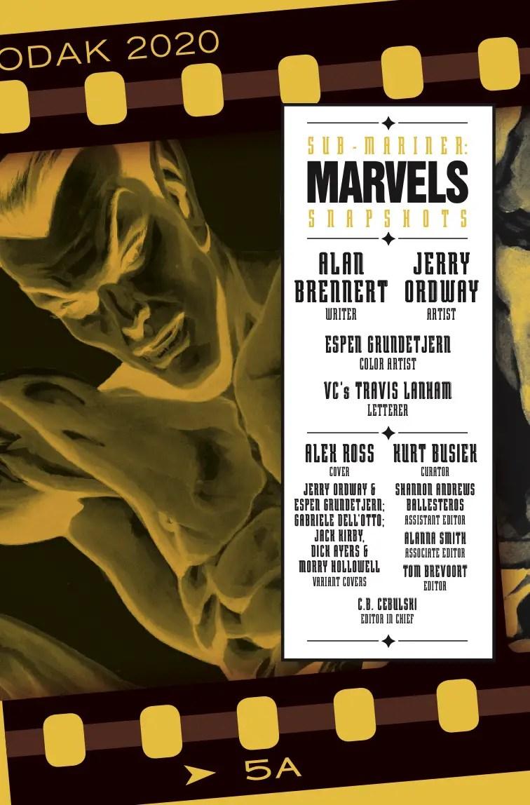 Marvels Snapshots: Sub-Mariner #1 Review