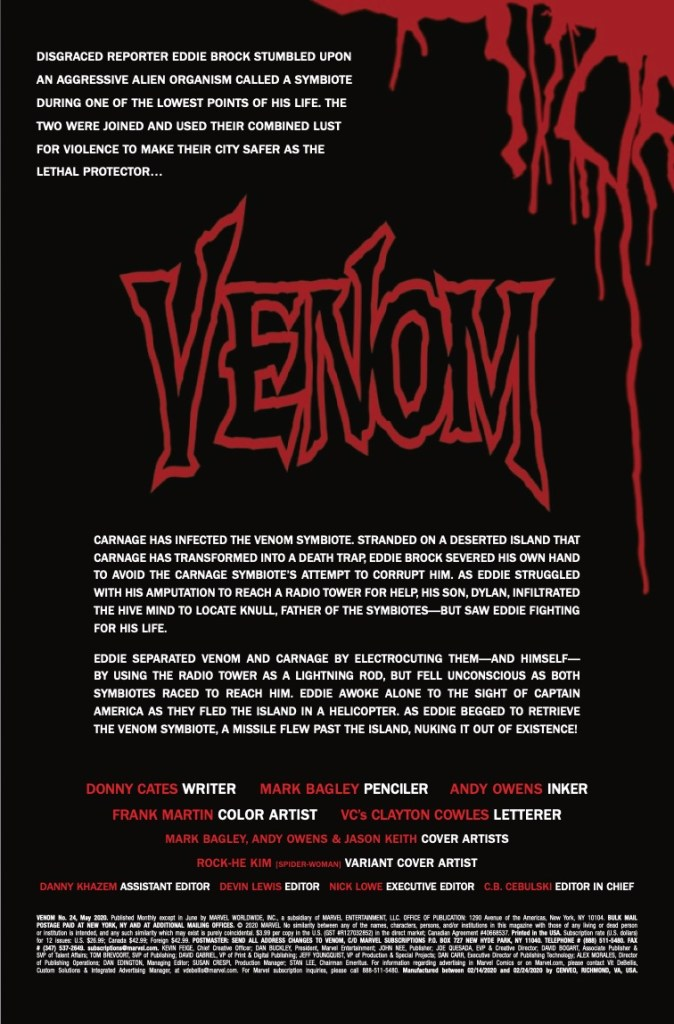 Marvel Preview: Venom #24