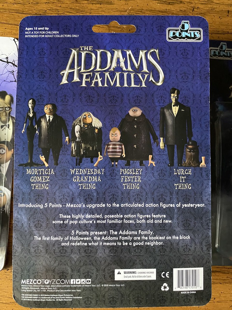 Mezco Toyz 5 Points The Addams Family: The Complete Set review