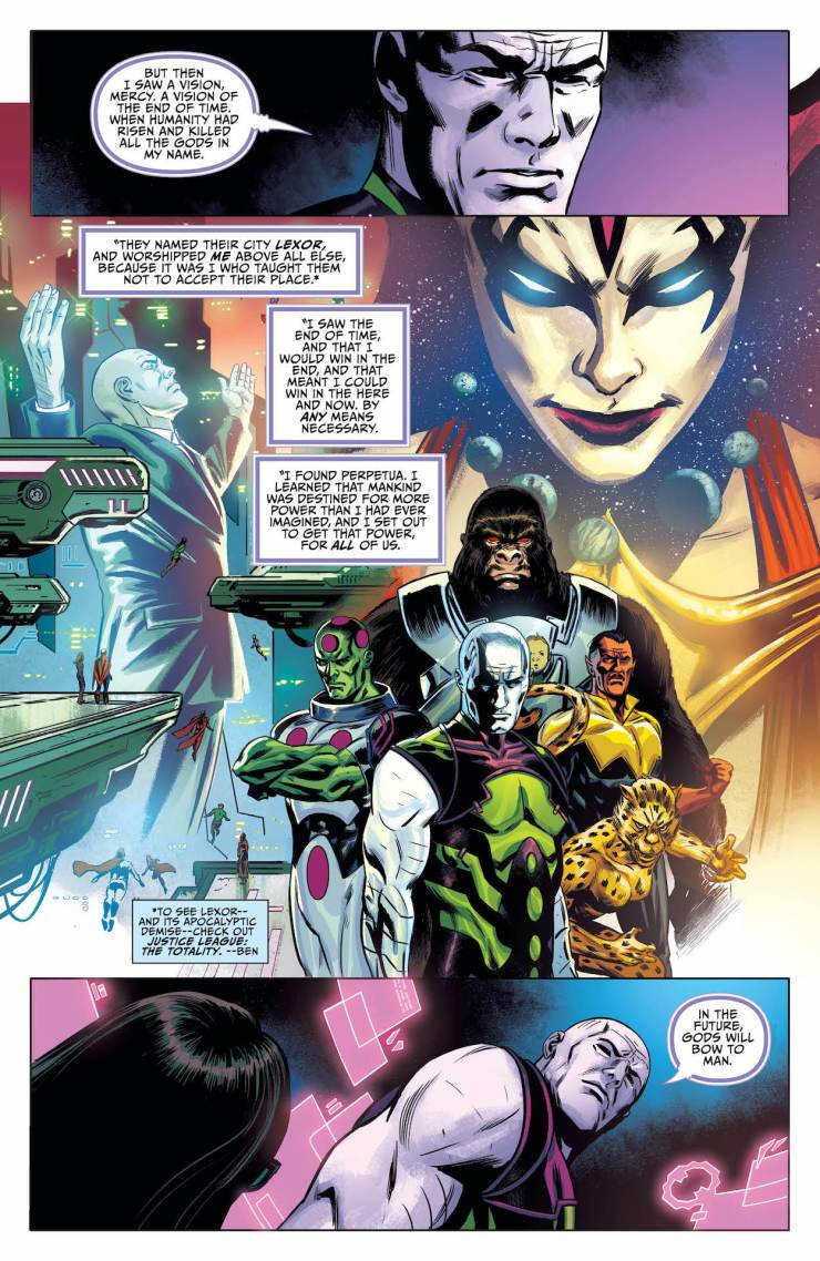 It's a final showdown between two of DC's most iconic villains, all to curry the favor of Perpetua.