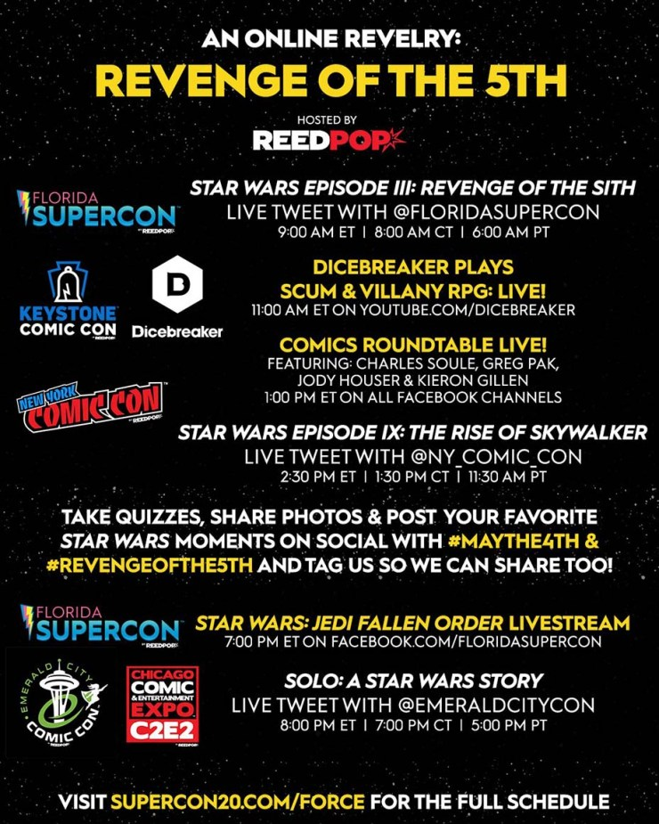 Virtual 'Star Wars' convention to be held May 4-5