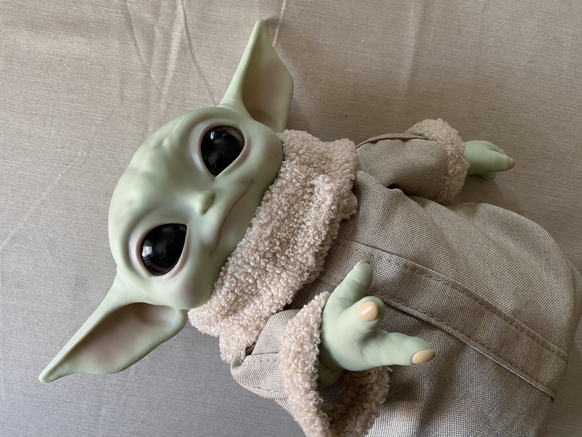 This official Baby Yoda 11-inch plush toy is adorable