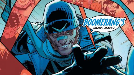 They say loose lips sink ships-and Captain Boomerang has the biggest mouth on Earth!