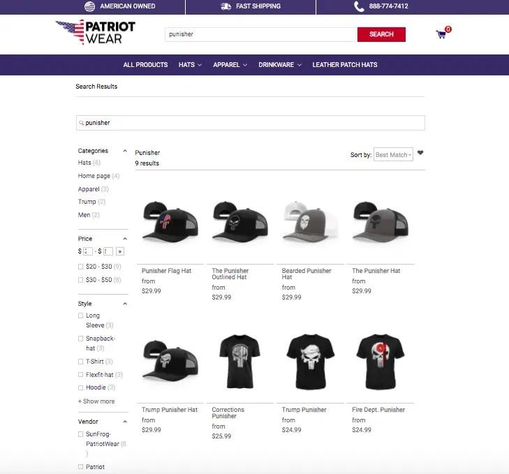 Patriot Wear Punisher