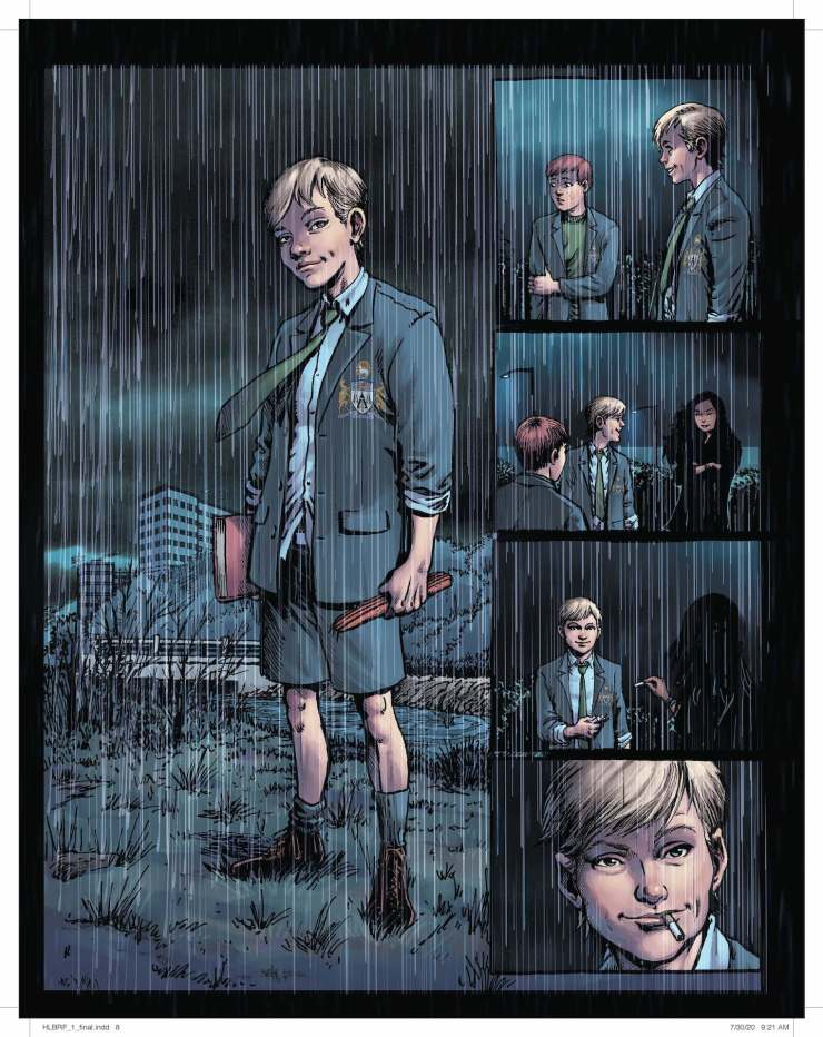 DC First Look: Hellblazer: Rise and Fall unlettered pages