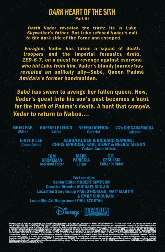 Marvel Preview: Star Wars: Darth Vader #3