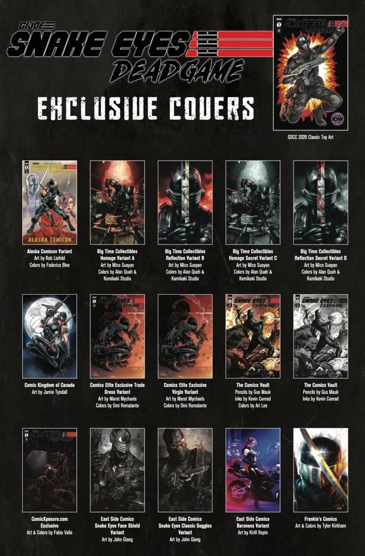 Snake Eyes Deadgame Covers