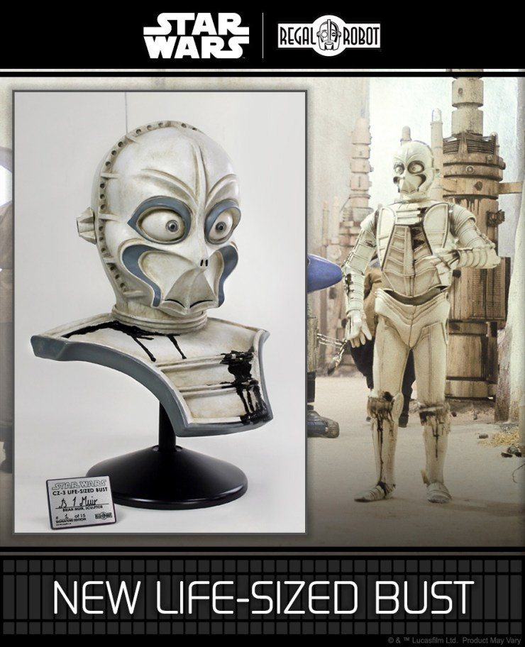 Star Wars CZ-3 comparing the new life-sized bust to the movie still