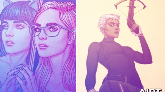 Check out Jenny Frison's first variant covers for BOOM! with We Only Find Them When They're Dead #1 and An Unkindness of Ravens #1.