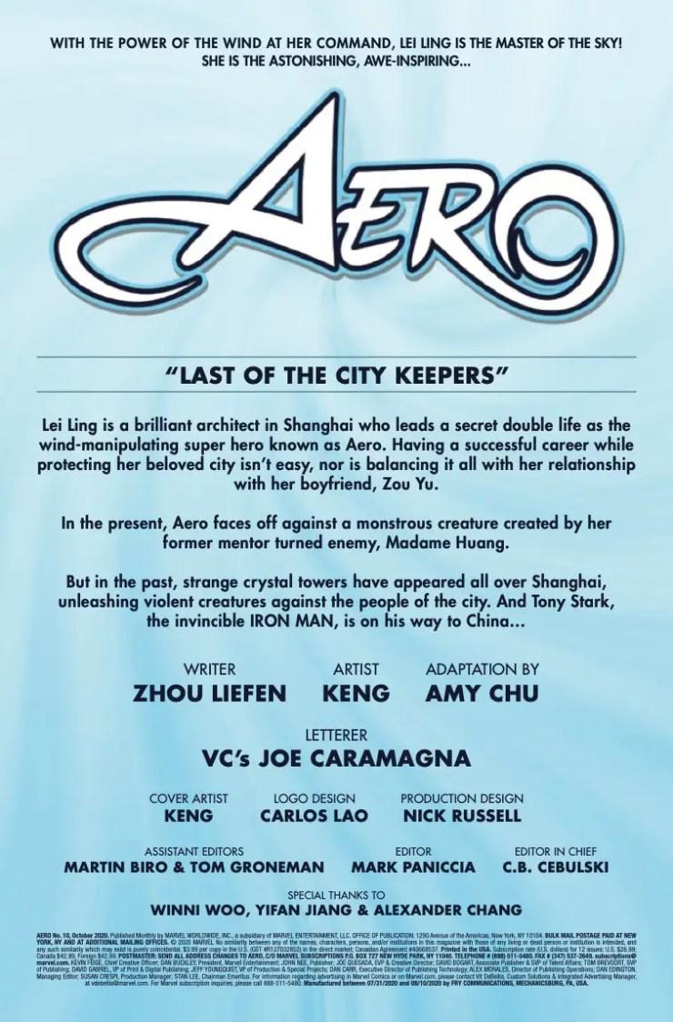 Marvel Preview: Aero #10