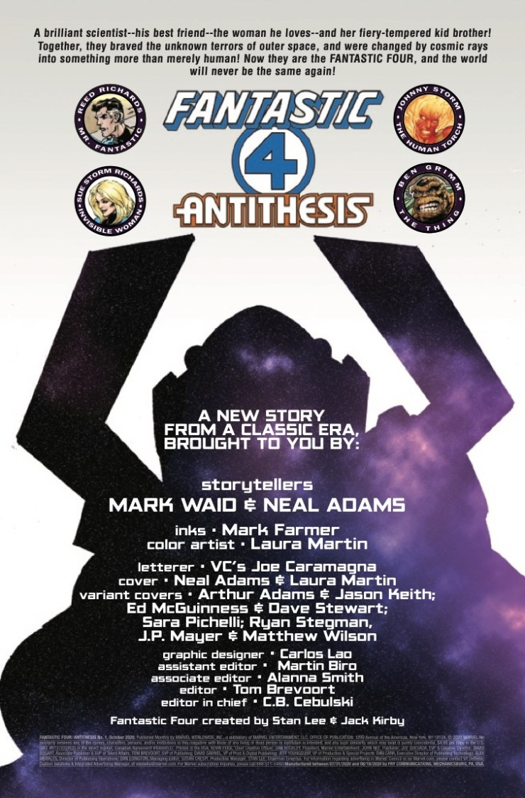 Marvel Preview: Fantastic Four: Antithesis #1