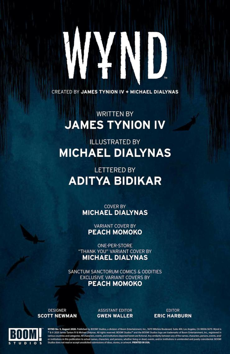 BOOM! Preview: Wynd #3