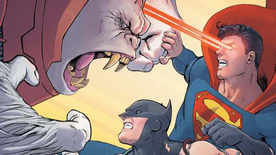 It's Superman versus Batman as the deadly machinations of the Ultra-Humanite crash to their end!