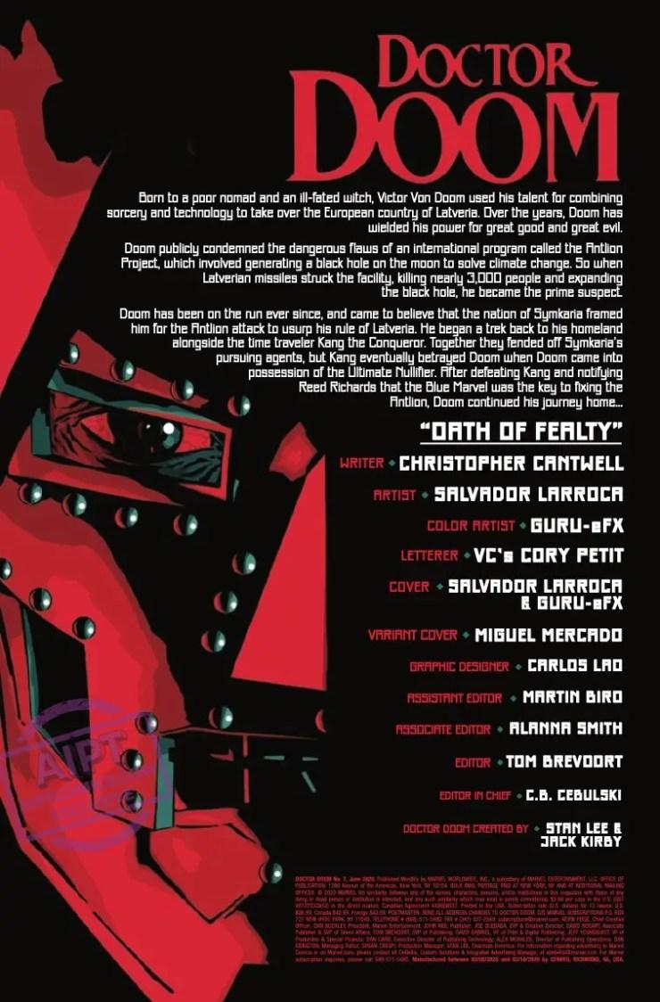 Doctor Doom #7 preview