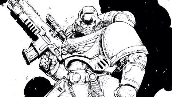 New color your own cover 'Warhammer 40,000' variant cover by Max Dunbar revealed.