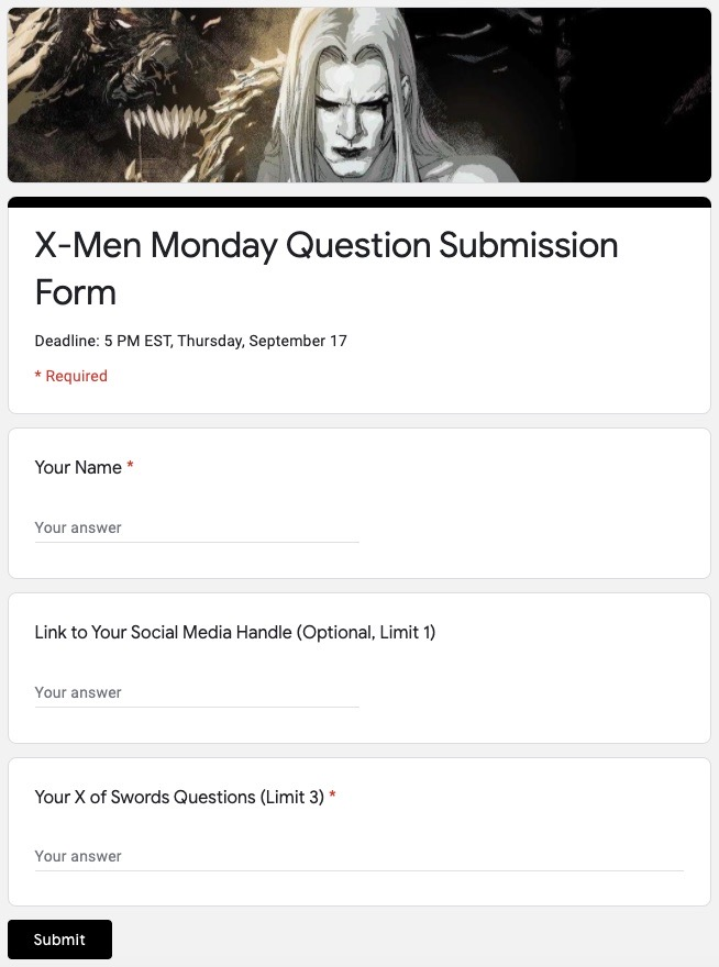 X-Men Monday is evolving: Weekly X of Swords coverage starts tomorrow