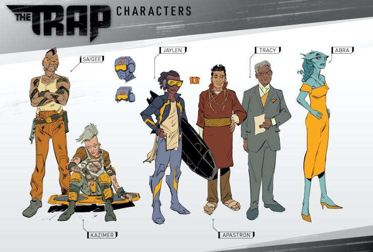Kickstarter Alert: 120-page sci-fi graphic novel 'The Trap'