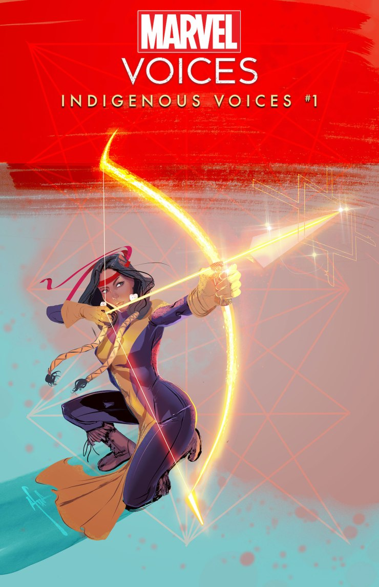Dani Moonstar takes aim in Afua Richardson's 'Marvel's Voices' cover