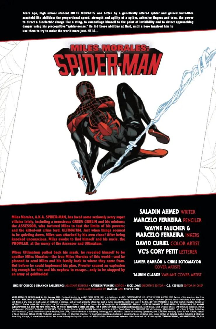 Marvel Preview: Miles Morales: Spider-Man #20