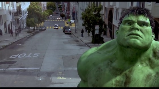 The Hollywood Walk of Fame had a visitor dressed as Hulk this past Friday.