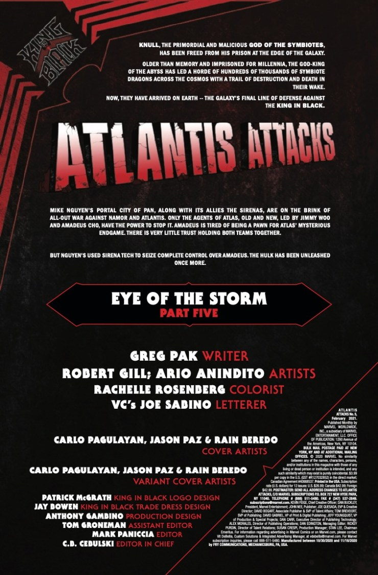 Marvel Preview: Atlantis Attacks #5