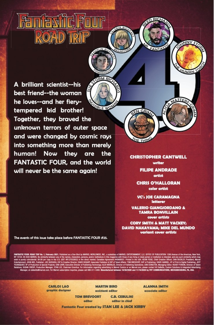 Fantastic Four: Road Trip (2020) #1