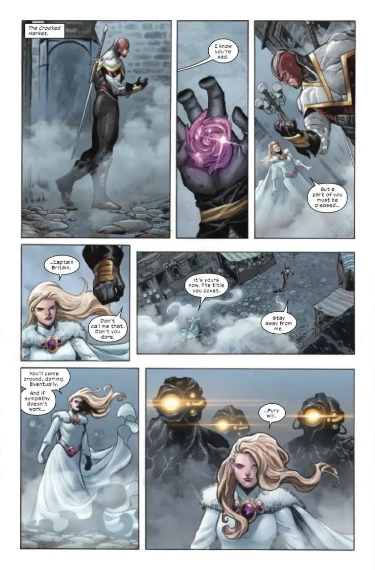 Saturnyne confronts Brain Braddock in X-Force #14