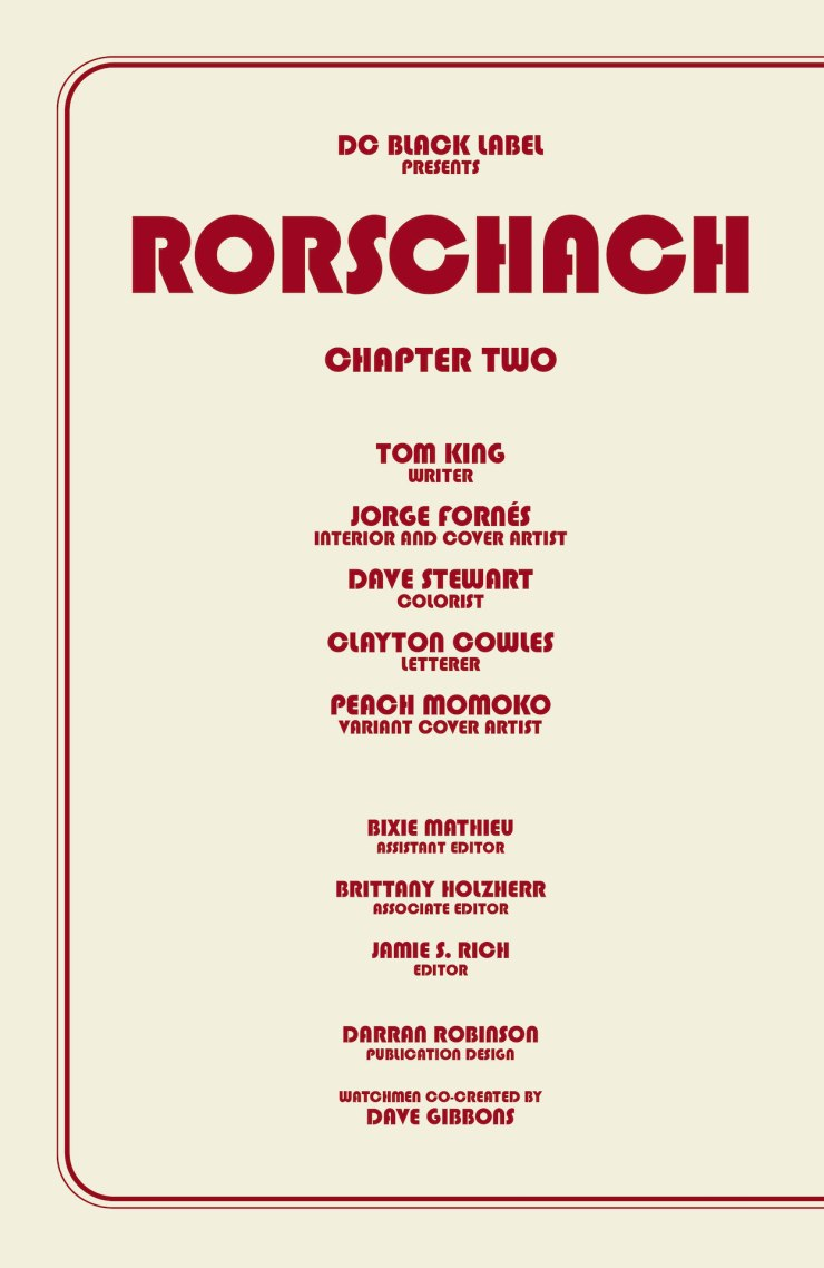 DC Preview: Rorschach #2